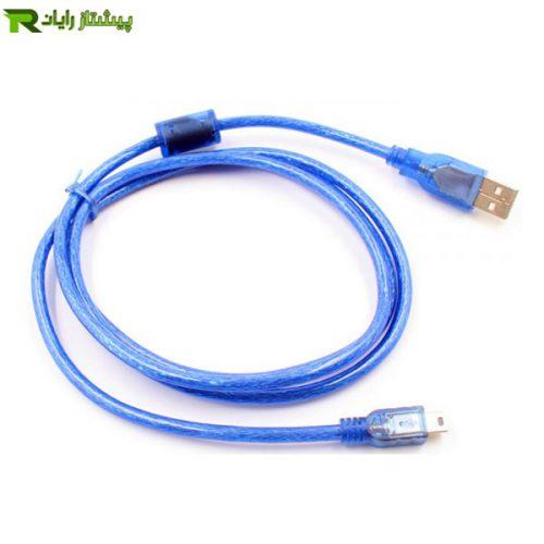 کابل تبدیل USB به Mini USB رویال به طول 1.5 متر