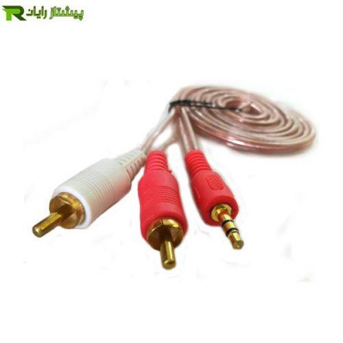 کابل صدا 1 به 2 وریتی به طول 1.5 متر