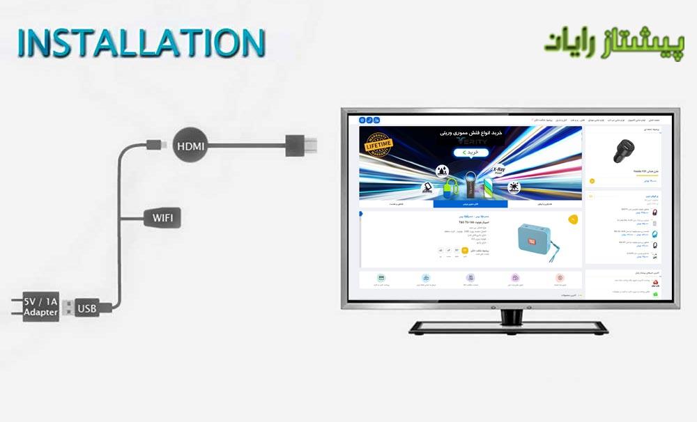 نحوه اتصال دانگل HDMI بی سیم تسکو T Cast 6000